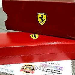 24k Gold Plated Metal Ferrari Sheaffer SCUDERIA Rollerball Pen Matte Black Ink
