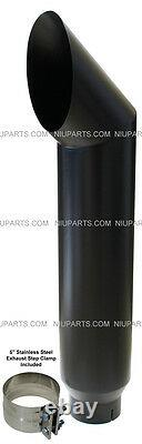 7 Cat Flat Black Stainless Exhaust Stack Smokers 5 ID Inlet 36 Long