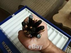 7 Waterman Expert Matte Black CT Ballpoint Pen Paris New in Waterman's show case