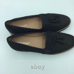 Aerosoles Womens Pen Name Loafer Shoes Black Tassels Leather Slip Ons 11 M New