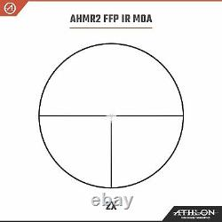Athlon Helos BTR GEN2 2-12×42 AHMR2 FFP IR MOA Riflescope with Lens Cleaning Pen
