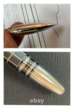 Authentic MONTBLANC Starwalker platinum Trims Matte Black Grid Rollerball pen R