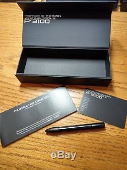 Beautiful Porsche Design Writing Tool Matte Black Twist Shake Ballpoint Pen