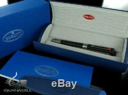 Bugatti Pur Sang Duotone Rollerball pen, Ruthenium trim, Matt Black, Limited Ed