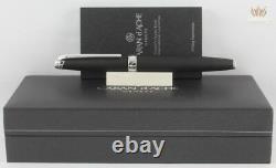 Caran D'ache Leman Matte Black With Silver Trim Fountain Pen Awesome New Model