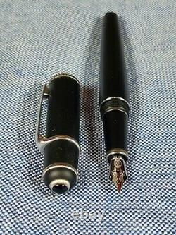 Cartier Diabolo Matte Black Fountain Pen with Palladium, 18k Fine nib All Papers