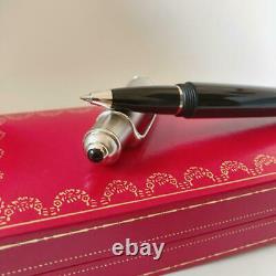 Cartier Diabolo Rollerball Pen Matte silver Black with box Unused