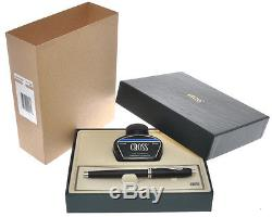 Cross Townsend Black Matte fountain pen new never inked with gift box