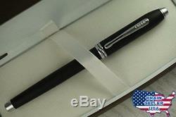 Cross Townsend Royal Smooth Satin Matte Black and Medium nib Fountain Pen, New