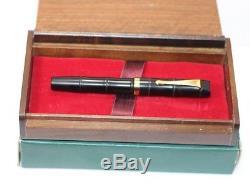 Dani Banei Limited Edition BAMBOO Matte Black URUSHI Fountain Pen New 14K GK Nib
