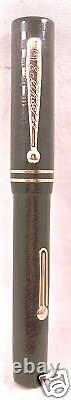 Eclipse Vintage Black Flat Top Fountain Pen working