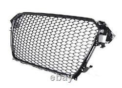For Audi A4 8K B8 Vorfacelift Honeycomb Grill Grille Black DTM Rs Look RS4 =
