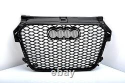 Front Grill Look RS1 Black For Audi A1 8X 2010-14 Honeycomb Grill Bumper