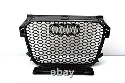 Front Grill Look RS1 Black For Audi A1 8X 2010-14 Honeycomb Grill Bumpers