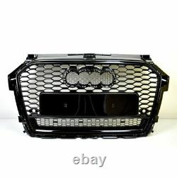 Front Grill Look RS1 Black For Audi A1 8X 2015-19 Honeycomb Grill Bumper Of