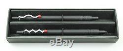 Goodwill Zigzag & Wave Matte Black Ballpoint and Mechanical Pencil Set Rare