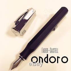 Graf von Faber Castell Special Edition Ondoro Matte Black Fountain Pen