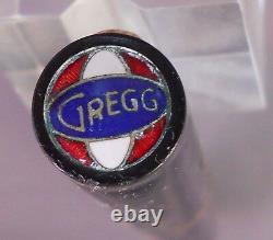 Gregg Vintage Flat Top Black Fountian Pen-l4k Gregg nib-working