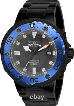 Invicta Scuba 24466 Auto 49Mm 24 Jewels Grey Dial withBlack Watch & ENGRAVED PEN