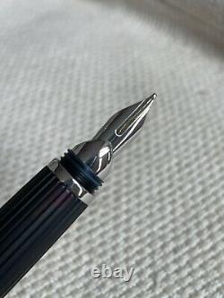 Jorg Hysek Matte Black & Palladium Fountain Pen withSheath 18kt Medium Nib