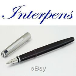 LAMY 81 Fountain Pen Pistonfiller Black Chrome Matt Cap 14C Gold BB Nib VINTAGE