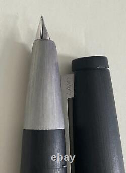 Lamy 2000 Matte Black Fountain Pen Medium Nib (F)