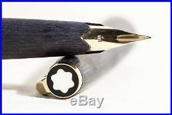 MONTBLANC 220 P matt Black & Gold 585 Gold rare EEF nib Cartridge FILLER 1972