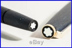 MONTBLANC 220 P matt Black & Gold RARE 585 brushed Gold B nib Piston FILLER
