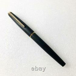 MONTBLANC Meisterstuck Fountain Pen No. 220 Matt Black x Gold Rare 1970s' 14K 585