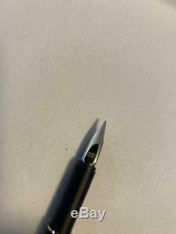 MONTBLANC S-Line Matte black Fountain Pen Gold Nib 14K Vintage shipping from JPN