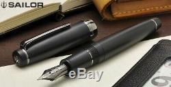 M nib Sailor PROFESSIONAL GEAR IMPERIAL BLACK 21K Fountain Pen Matte 1911 Japan
