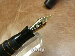 Maiora Impronte Matt Black Fountain Pen Steel Med. Nib New In Box Delta Sucessor