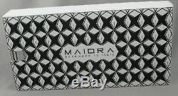 Maiora Impronte Matte Black & Gold Fountain Pen Medium Nib Made In Italy New