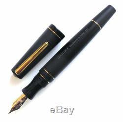 Maiora Impronte, Matte Black, Oversized Fountain Pen, Fine Nib, Made In Italy
