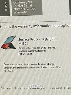 Microsoft Surface Pro X 13 (256GB SSD, 8GB RAM) Bundle with Keyboard & Slim Pen