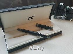 MontBlanc Matte Black Meisterstuck Rollerball Pen- Boxed. Royal Blue Ink