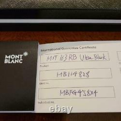Mont Blanc Ballpoint Pen Meisterstück Ultra Black Classic Rollerball Brand-New