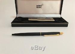 Mont Blanc Ballpoint Pen Slim Matte Black/gold