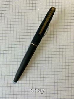Montblanc 220 Matte Black Brushed Finish Fountain Pen Vintage 14K EF FedEx C