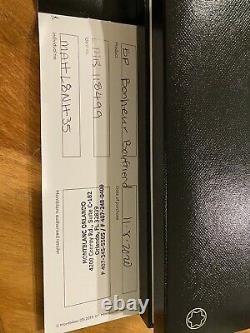 Montblanc Bonheur Boyfriend Ballpoint Pen Matte Black 118499 Authentic