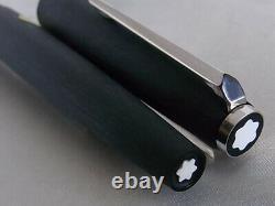 Montblanc Fountain Pen Matte Finished PT 14K EF Nib Cartridge Filling System