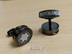 Montblanc Matte Black Fountain Pen with CUFF-LINKS best Classic gift for him