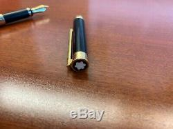 Montblanc Noblesse Fountain Pen Matte Black with Gold accents
