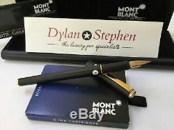 Montblanc Noblesse slimline matt black fountain pen medium nib + box + ink