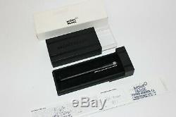 Montblanc Scenium Fineliner Matte Black with Platinum Trim Pen Rollerball