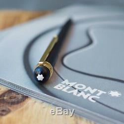 Montblanc Scenium Matte Black & Gold Plated Trim Ballpoint Pen
