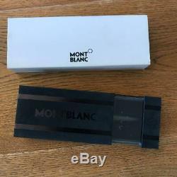 Montblanc Sinium Matte Black Ballpoint Pen with Logo Slim Body Office Supply