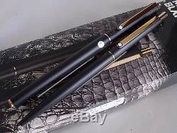 Montblanc Slim Line Fountain Pen & Ball Point Pen Matte Black