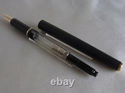 Montblanc Slim Line Fountain Pen Matte Black GT Steel F Nib