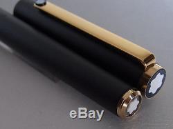 Montblanc Slim Line Fountain Pen Matte Black Steel EF Nib